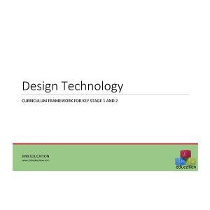 Curriculum framework - design technology dt progression of skills
