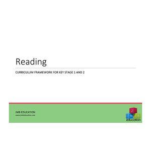 Curriculum framework - reading progression of skills